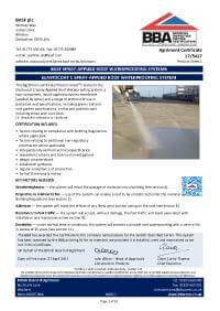 Elastocoat BBA certificate