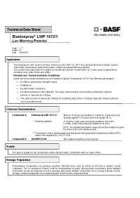 ELASTOSPRAY LWP Technical Data Sheet